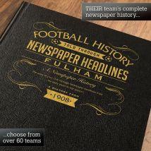 Personalised Fulham Football Book
