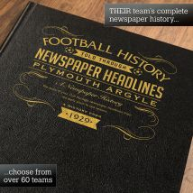 Personalised Plymouth Argyle Football Book