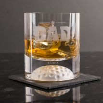Engraved Stern Whisky Glass - Golf Dad