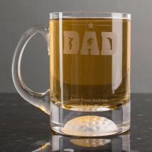 Personalised Pint Tankard - Golfing Dad