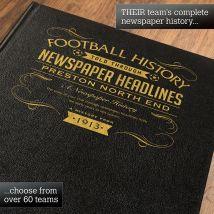 Personalised Preston North End Football Book