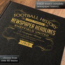 Personalised Sheffield United Football Book