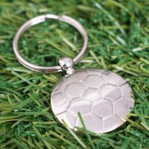 Engraved Football Keyring