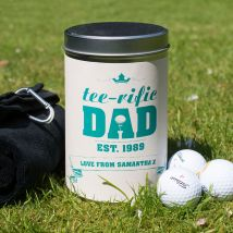 Golf Gift Set In Personalised Tin - Tee-Rific Dad