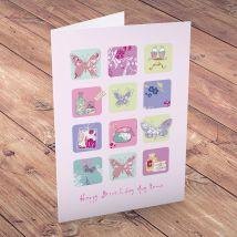 Personalised Card - Happy Birthday Butterflies