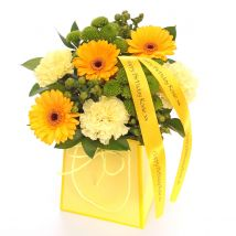 Personalised Floral Yellow Gift Bag