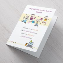 Personalised Card -  Congratulations on Your New Job