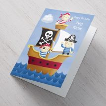 Personalised Card - Pirate Ship