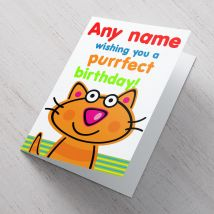 Personalised Card - Purrfect Birthday