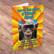 Personalised Card -  Happy Birthday Monkey