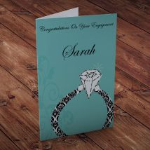 Personalised Card - Diamond Ring Engagement