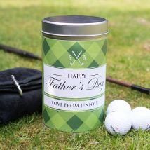 Golf Gift Set In Personalised Tin - Happy Father's Day