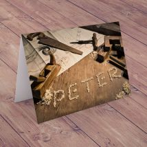 Personalised Card - Wooden Chips