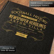 Personalised Aston Villa Football Book