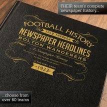 Personalised Bolton Wanderers Football Book