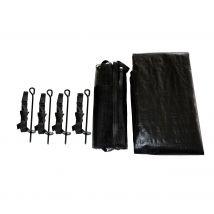 KIT complet (kit d'ancrage + filet à chaussures + bâche) pour trampoline 366 cm