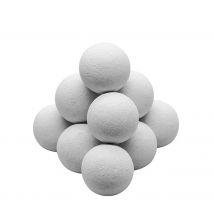 Set de 11 balles de baby foot blanches en liège