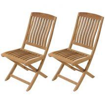 Chaise en teck pliante (lot de 2) - Rias