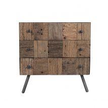 Commode 3 tiroirs en bois recyclé - Kuala