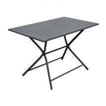Table de jardin rectangulaire pliante en aluminium gris 4 personnes - Globe