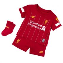 Mens New Balance Liverpool FC Home Baby Kit - Red Pepper/White/Gold, Red Pepper/White/Gold