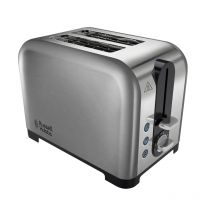 2 Slice Wide Slot Toaster High Lift Polished Steel