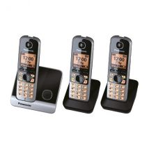 Cordless DECT Phone Triple 1.8inch LCD 100 Name Memory