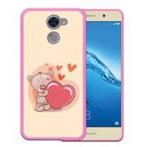 Funda Huawei Enjoy 7 Plus Silicona Gel Flexible Woowcase Osito De Peluche Amoroso - Rosa