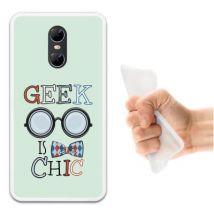 Funda Ulefone Gemini Silicona Gel Flexible Woowcase Geek Is Chic - Transparente