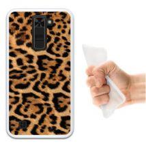 Funda Lg Tribute 5 Silicona Gel Flexible Woowcase Animal Skin Estampado Leopardo - Transparente