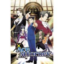 Poster Close Up Ace Attorney Key Art 91,5 x 61 Cm