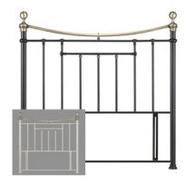 Birlea Bronte 4FT 6 Double Metal Headboard
