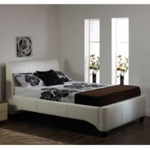 Star Collection Michaela 4FT Small Double Leather Bedstead - White