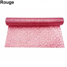 Chemin de table organza de 30cm sur 5m (Rouge)