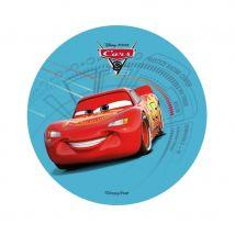 Disque Cars 3 de 14,5 cm en azyme (Flash bleu)