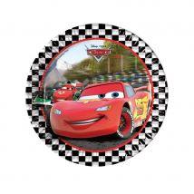 Décorations Cars formula d'anniversaire (8 assiettes de 23cm)