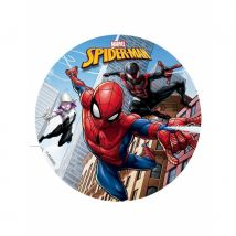 Disque en sucre Spiderman, 16cm (16cm)