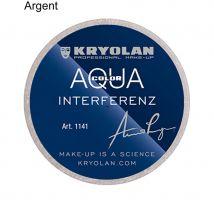 Kryolan fard a l'eau interferenz à paillettes. (Argent, 8ml)