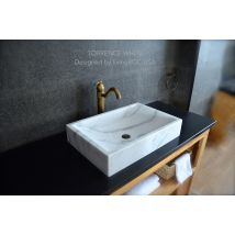 60x40 White Marble Bathroom sink TORRENCE WHITE