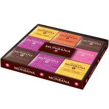 Coffret Collection 18 Carrés De Chocolat Gamme Excellence 6 Saveurs - Monbana