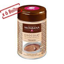 Monbana - Lot de 6 Chocolats en poudre aromatisés Tiramisu 6x250g - Monbana - 121M276