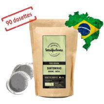 Senseo-compatible Coffee pods - Santominas Brazil x90 - Les Petits Torréfacteurs - Brazil
