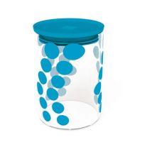Zak! Designs - DOT DOT glass jar in blue- 900 ml - 0.9000 L