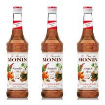 Lot De 3 Sirops Monin - Pumpkin Spice (citrouille Epicée) - 3 X 70cl