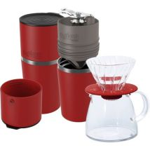Kit n°2 Cafflano coffee maker in red + Hario V60 + coffee pot