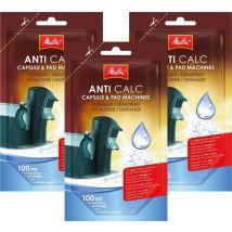 Melitta Anti Calc liquid descaler for capsule & pad machines - 3 doses