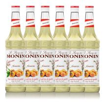 Lot de 6 Sirops Monin - Amaretto - 6 x 70cl - Arômes naturels