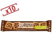 Michel Augustin - Lot de 10x4 petits carrés au chocolat au lait & noisettes - Michel et Augustin