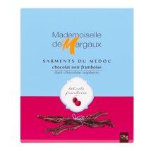 Mademoiselle De Margaux - Sarments du Médoc Chocolat Noir/Framboise 52% 125g - Mademoiselle de Margaux