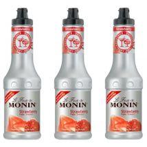 Lot de 3 Smoothies Fruit de Monin - Fraise - 3 x 50 cl - 50.0000 cl